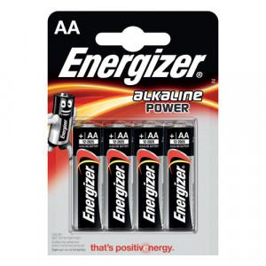 4 batterie alcaline aa energizer 1.5v