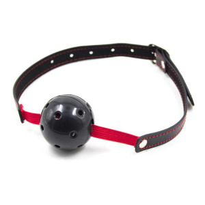 Breathable ball gag stretch (nero)